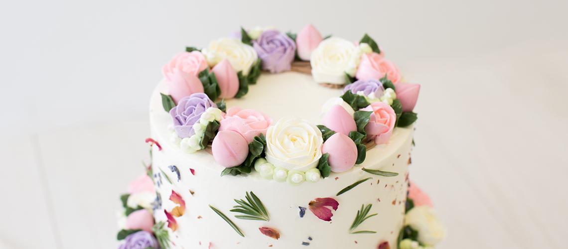 Floral Buttercream Customised Cake Singapore