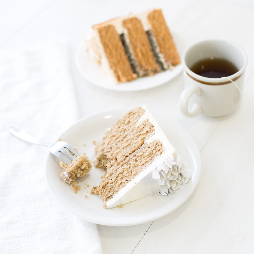 Earl Grey Cake Slice