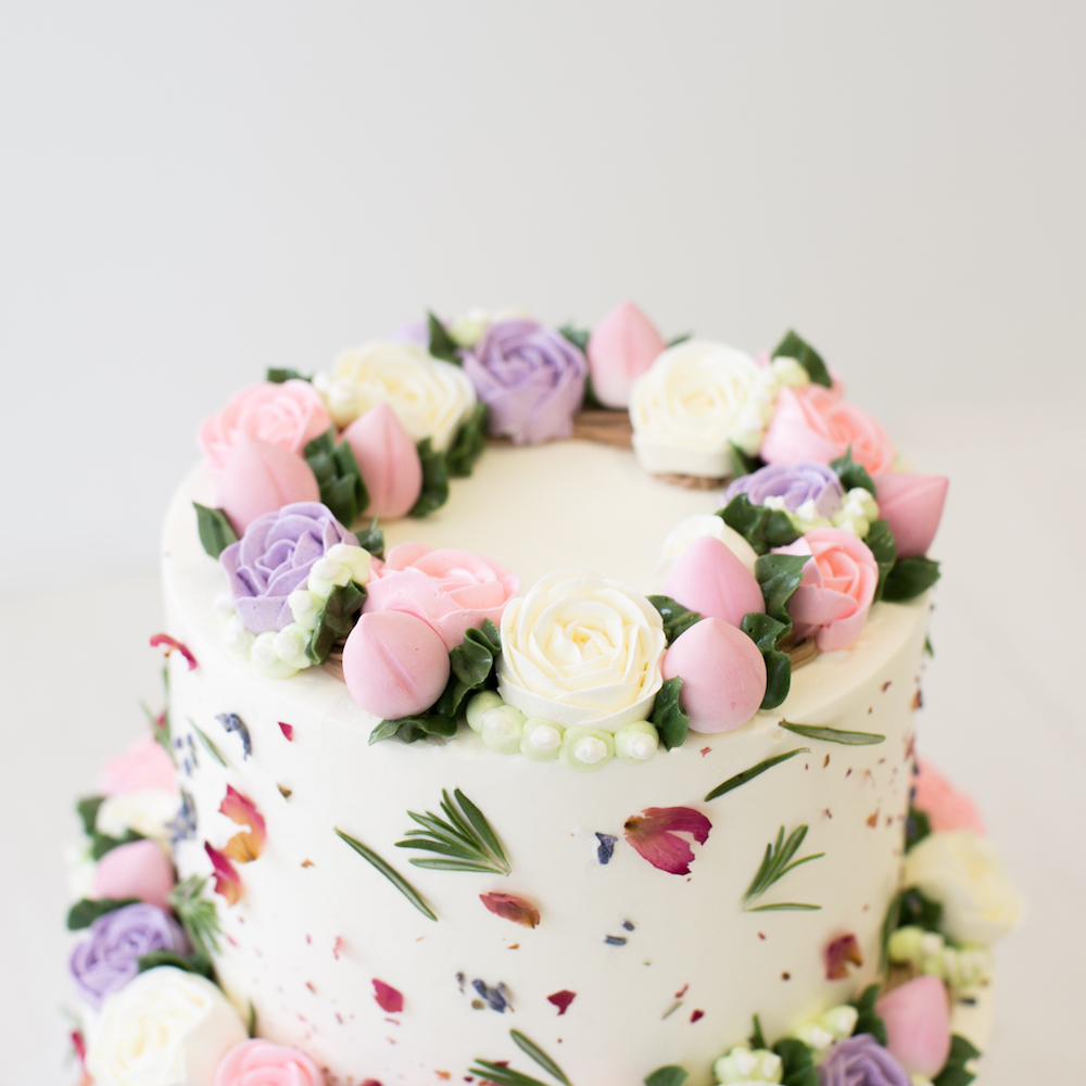 Floral Buttercream Customised Cake Singapore