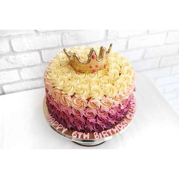 Rosettes Ombre Customised 21st Birthday Cake