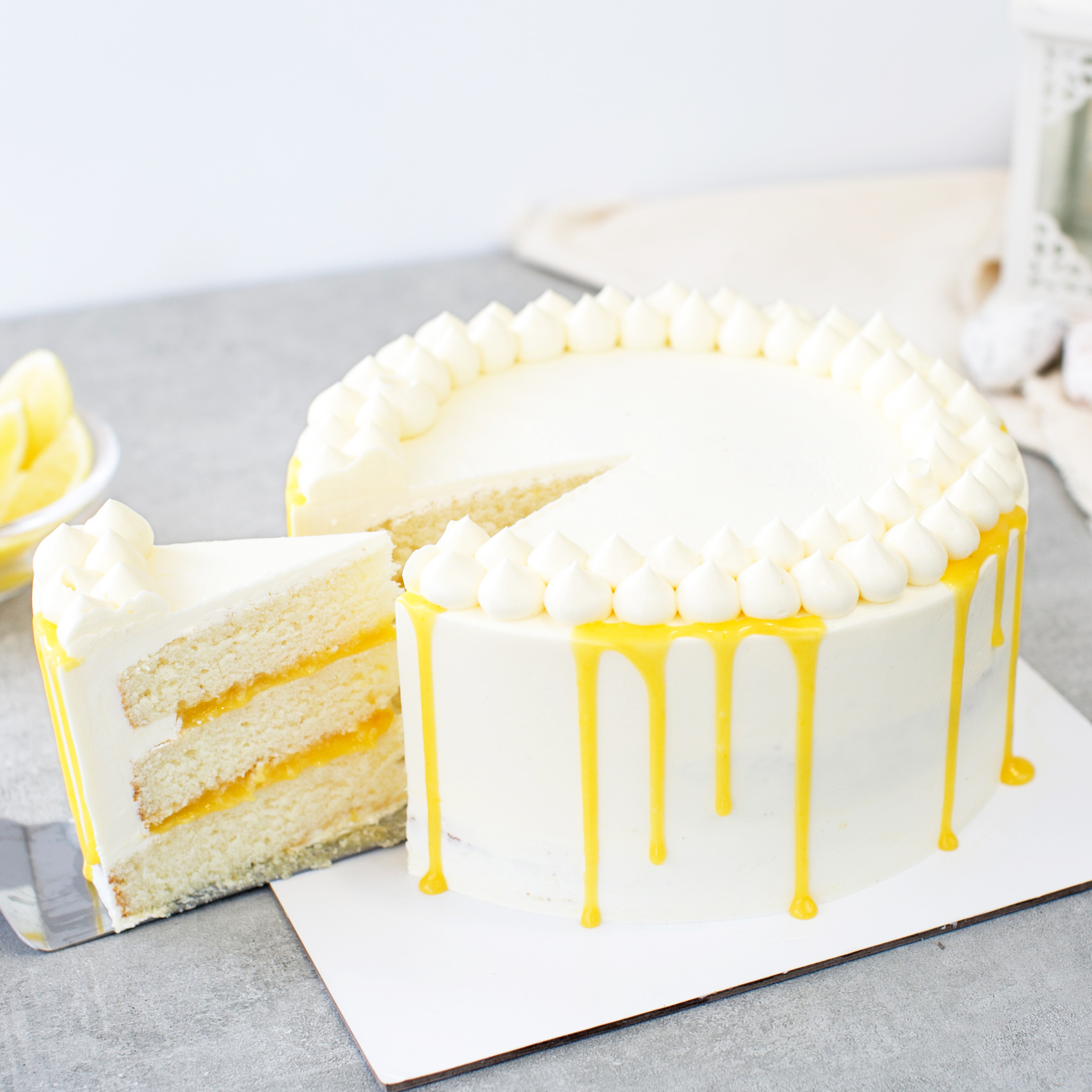 Lemon Passion Fruit Cake 18 Bakers Brew