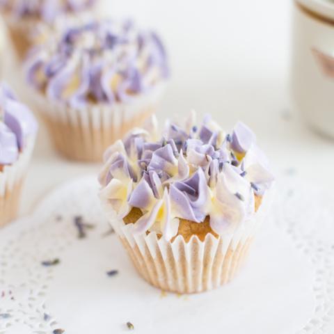 Earl Grey Lavender Cupcake