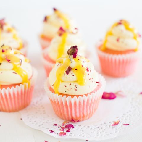 Lychee Mango Cupcake