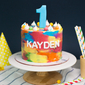 Best Kid's Colourful Rainbow Birthday Cake Singapore