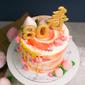 Best Modern Watercolour Longevity in Sunset Birthday Cake Singapore