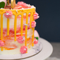 Best Modern Watercolour Longevity in Sunset Birthday Cake Singapore