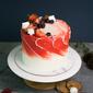 Best Rustic Fruity Ruby Swirl Birthday Cake Singapore