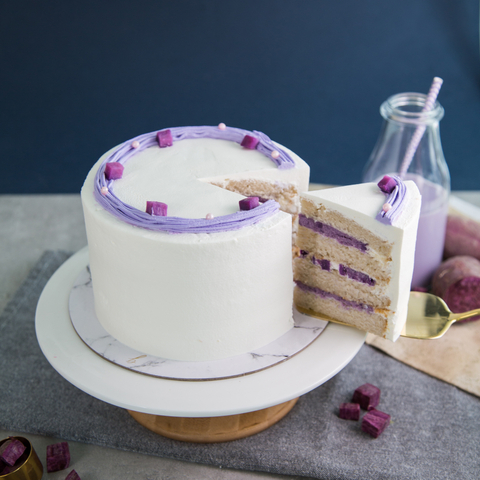 Purple Sweet Potato Soy Milk Cake 5