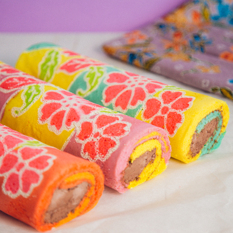 Pastel Batik Swiss Roll 3