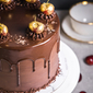 Chocolate Cherry Elegance Customised Cake