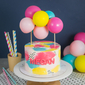 Marble Mini Balloon Garland Customised Cake