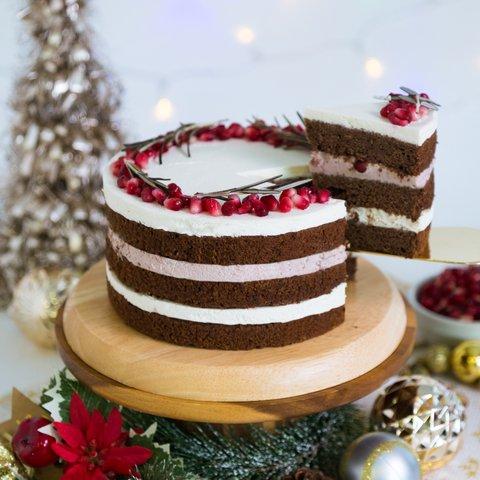 Pomegranate Chocolate Cake (NTU - 10PAX)