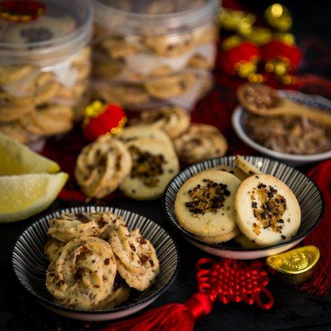 Japanese Furikake & Lemon Black Pepper Cookies