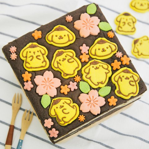 Pompompurin Cookie Brownie 9