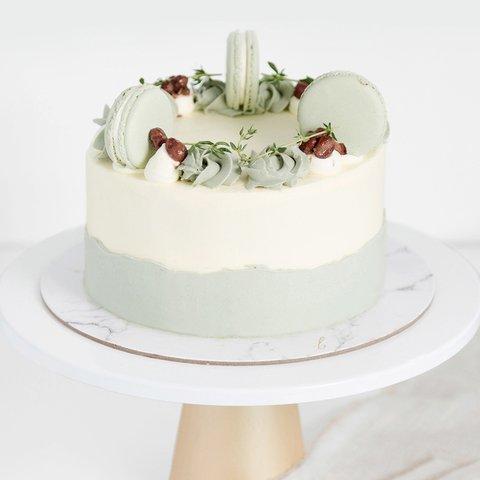 Matcha Azuki Cake