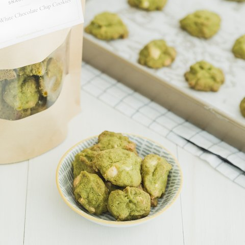 Matcha White Chocolate Chip Cookies (Delivery Special)