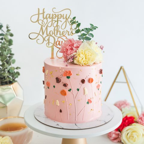 Mother's Day Floral Garden Cake