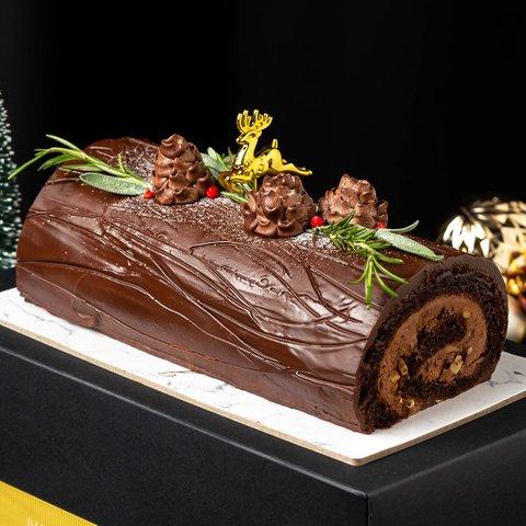 Chocolate Hazelnut Ferrero Yule Log