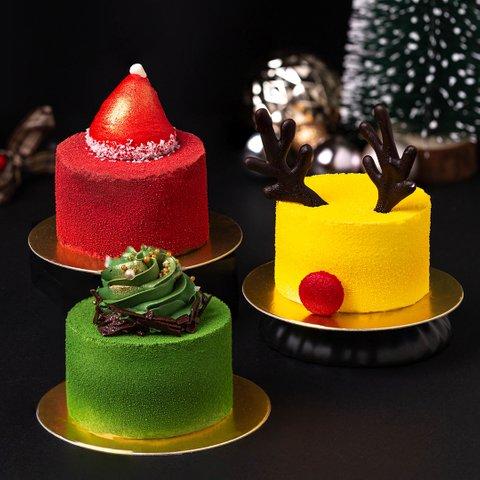 Christmas Mousse Cakes Trio
