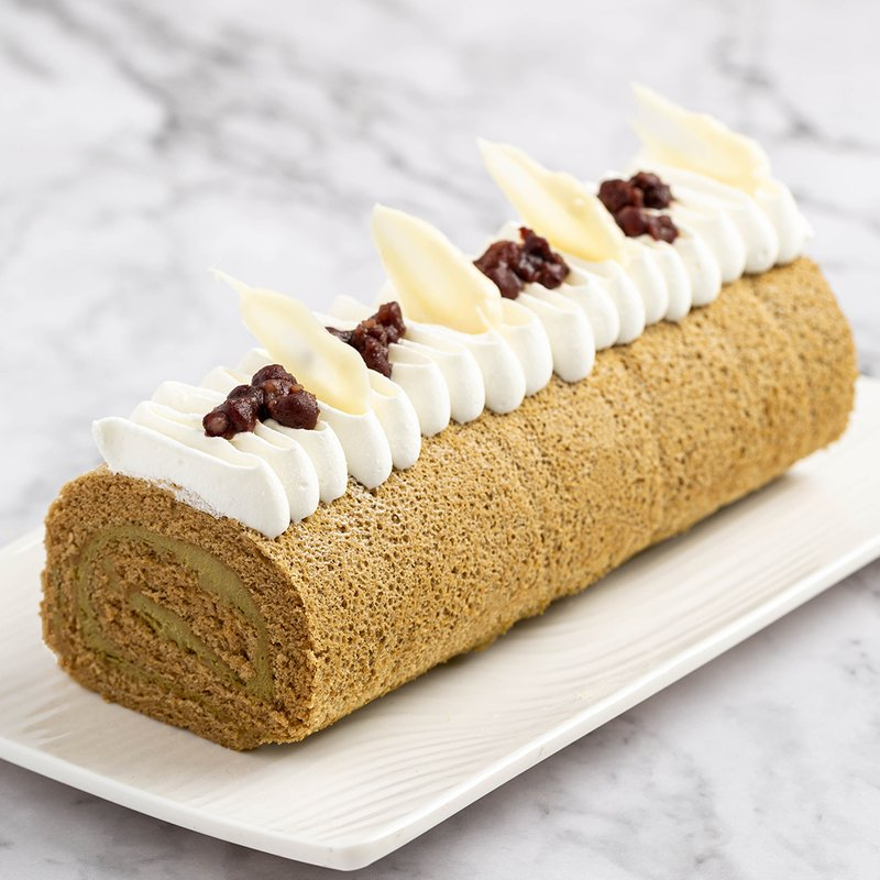 Hojicha Swiss Roll | Online Cake Delivery Singapore | Baker