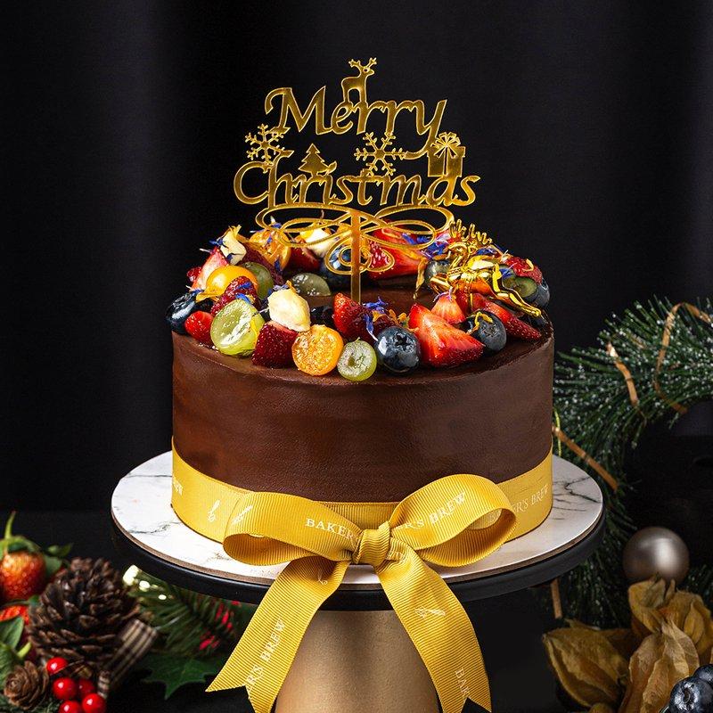 Blackforest Belgium Dark Chocolate Cake | Baker's Brew Christmas Collection 2020
