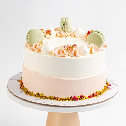 Roasted Pistachio and Rose Cake