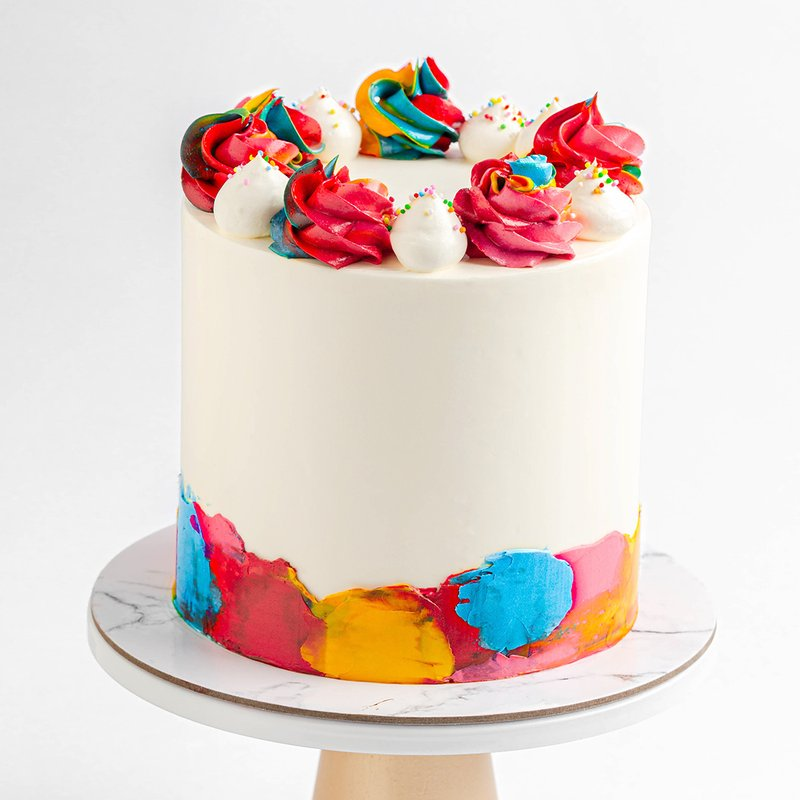 Best Rainbow Cake Singapore - Baker's Brew Studio
