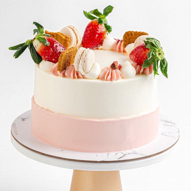 Best Strawberry Speculoos Cake Singapore - Baker's Brew Studio