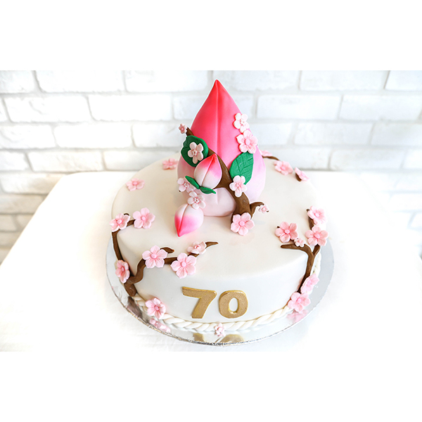 Peach Longevity Customised  Birthday Cake